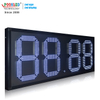 Popular Mexico 18 '' Large 7 Segment 88.88 Letrero de precio de gas LED blanco